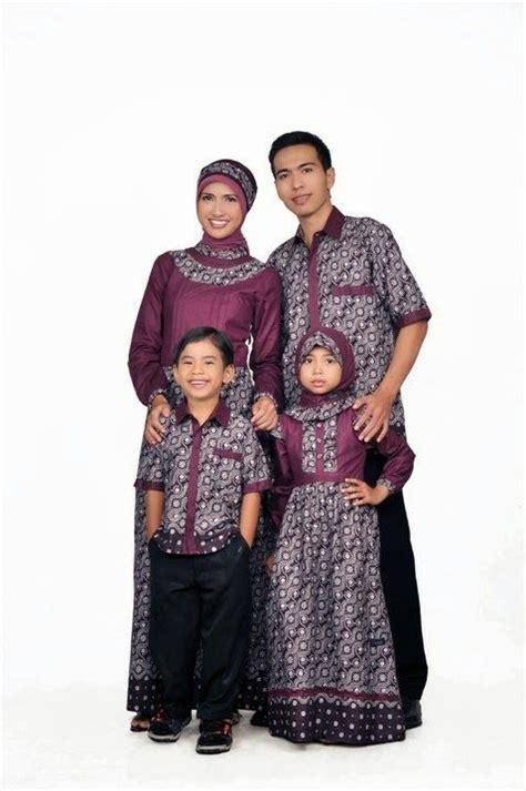 busana muslim couple keluarga ayah ibu  anak model