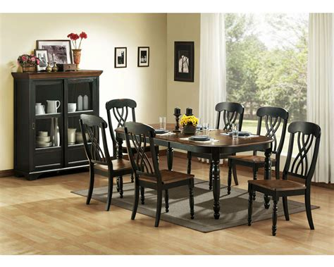 Casual Country Black Dining Table & Chairs Dining Room