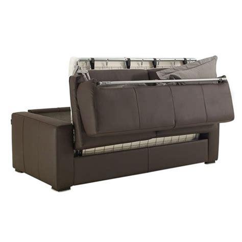 canap lit en cuir canapé convertible en cuir matelas 14 cm petit prix
