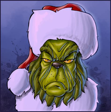merry christmas mr grinch by robiant