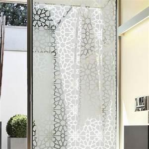 sticker occultant pour vitre et fenetre motif oriental With salle de bain design avec film vitrage décoratif