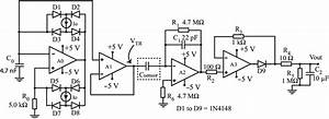 Schematic Diagram Of The Signal Conditioning Circuit