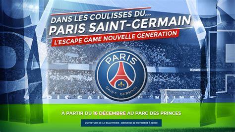 Club : Le PSG lance la billetterie de son escape game ...