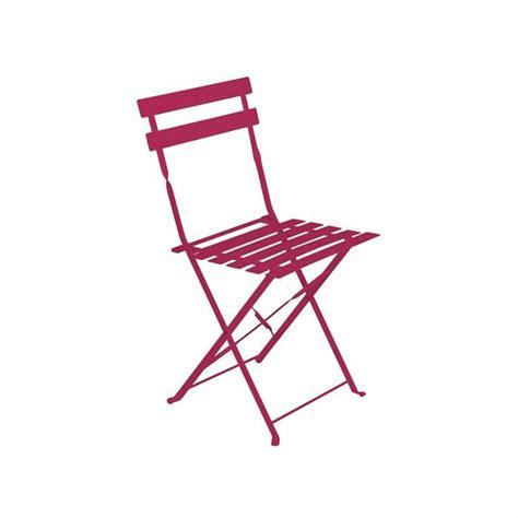 chaise de jardin couleur chaise de jardin métal pliante camargue framboise achat