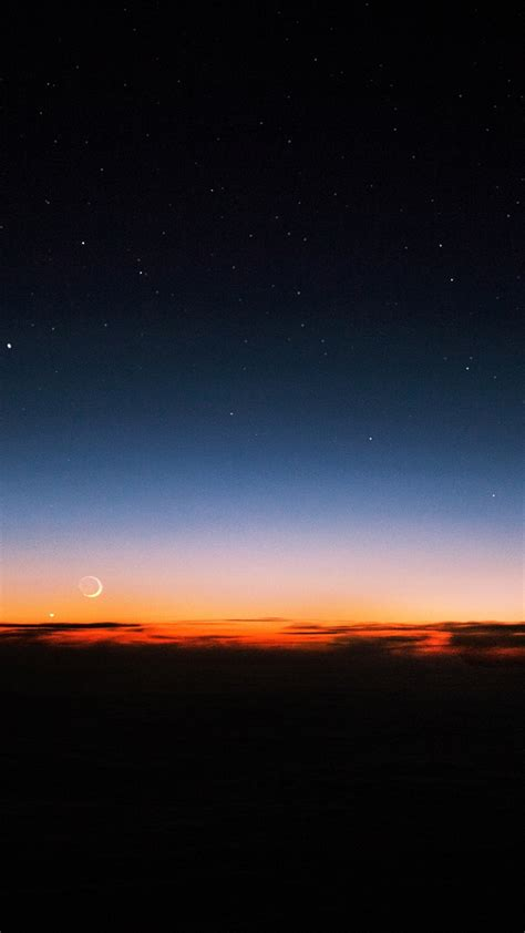 night sky sunset stars iphone wallpaper iphone wallpapers