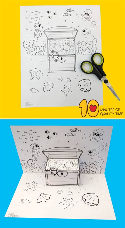 underwater treasure chest craft  minutes  quality time