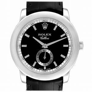 Rolex Cellini Cellinium Platinum Black Dial Men U0026 39 S Watch