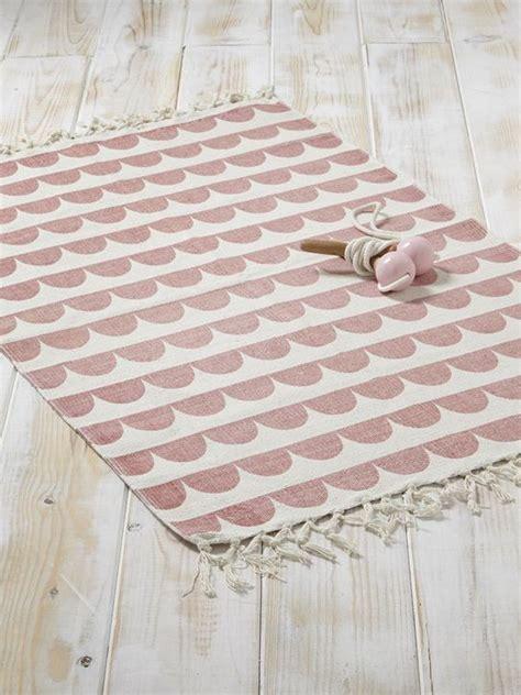 Teppich Babyzimmer Mädchen by Teppich Grafisches Muster Baumwolle Gelb Fischgrat Rosa