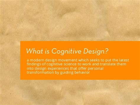 Cognitive Design Thesis: Fall Review