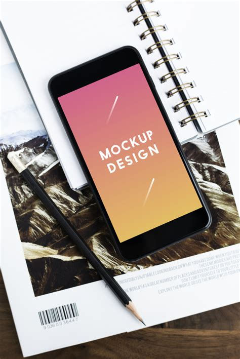 Present your app or website across different mobile devices with our free smartphone mockups. Premium mobile phone screen mockup template   Free PSD File