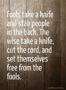 Stab You In The... Knife Song Quotes