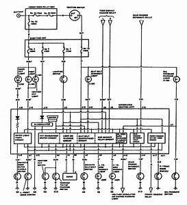 Acura Legend  1987  - Computer Data Lines