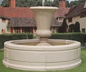 Kensington, Urn, Water, Feature, Fountain, With, Modern, Tate, Pool, Surround
