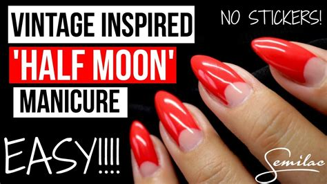easy vintage inspired  moon manicure