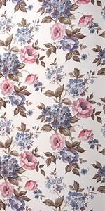 Tapeten Retro Style : 70er tapete 0111 1 meter blumen tapete blaue rosen ~ Sanjose-hotels-ca.com Haus und Dekorationen
