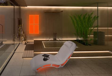 chaise musical note the wellness musical chaise longue by iso benessere