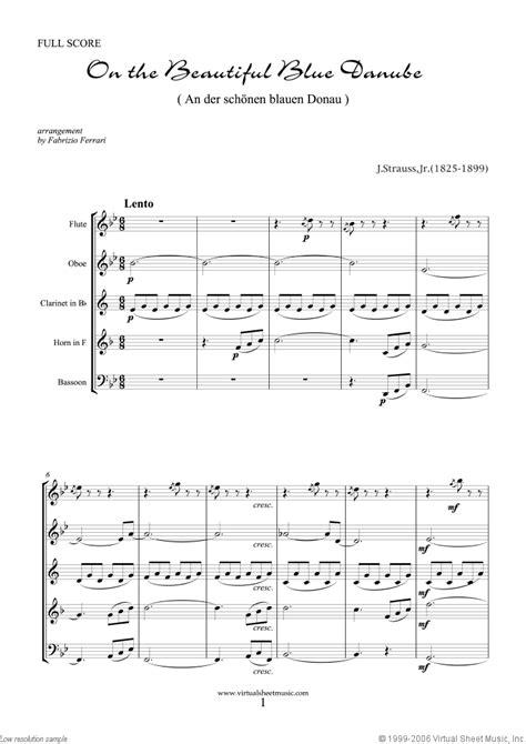 jr the blue danube sheet for wind quintet pdf