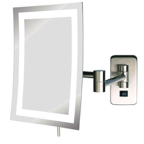 zadro 9 25 in w x 12 25 in h swivel wall mount mirror in
