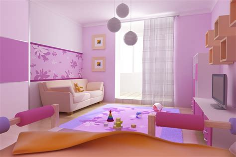 Cute Kitchen Decorating Ideas - marvelous color for kids room with rainbow schemes on the splendid pink wall paint bedroom
