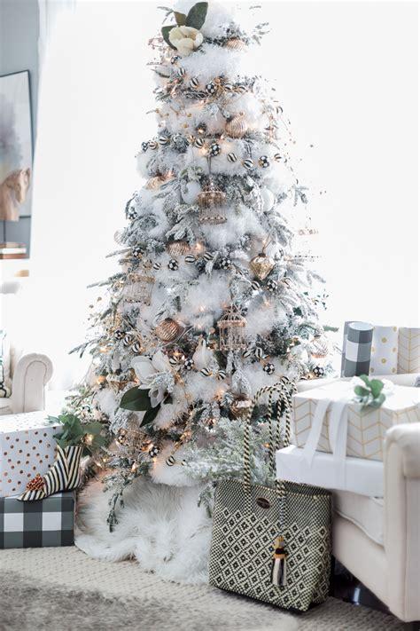 Home For Christmas  Black And White Christmas Tree