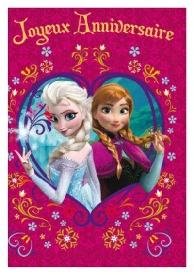 joyeux anniversaire reine des neiges carte anniversaire enfant carterie en ligne