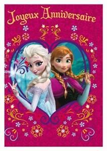 Joyeux Anniversaire Reine Des Neiges : carte anniversaire enfant carterie en ligne ~ Melissatoandfro.com Idées de Décoration
