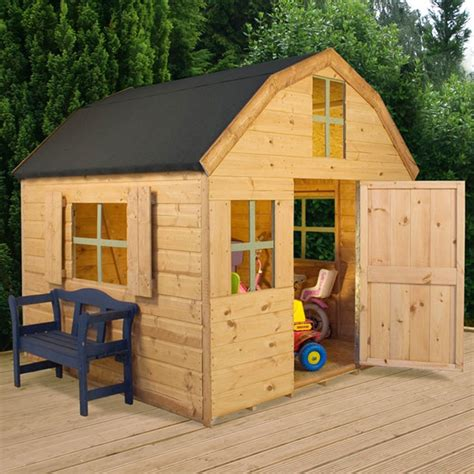 kids dutch barn style wooden playhouse kids outdoor play