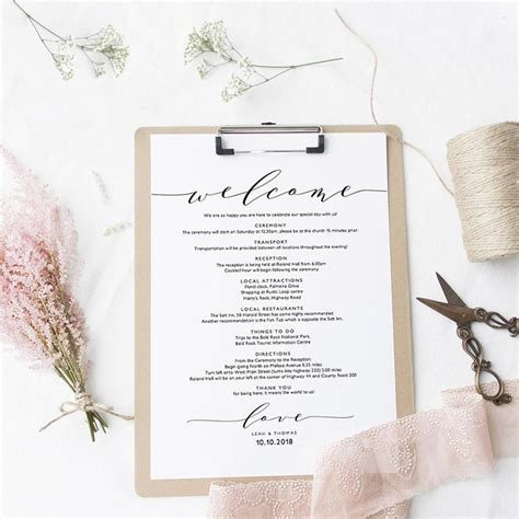 wedding welcome letter template sweet bomb printable wedding order of service template connie joan