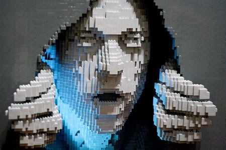 cool lego art david report