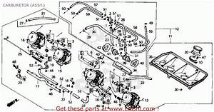 Honda Cbr600f Hurricane 1990  L  Usa Carburetor  Assy