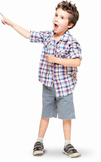 Child Transparent Kid Pointing Boy Standing Left