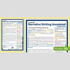 * New * Y5 Naplan Narrative Writing Annotated Example Poster