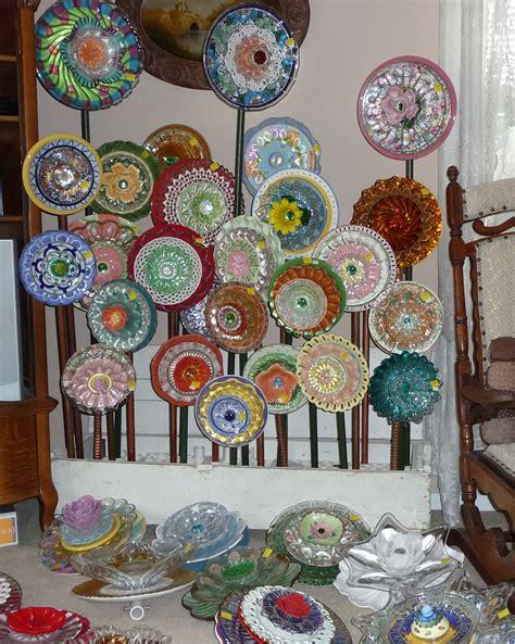 Plate Flower Bed 261 Garden Yard Art Glass And Ceramic