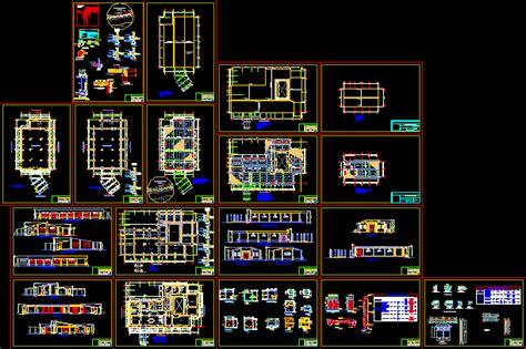 interpretation center  dwg design full project