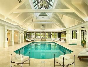 Elegant, Private, Indoor, Glass, Mosaic, Swimming, Pool, With, Atrium