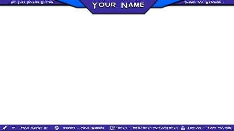 Descargar Template Render Minecraft Profesional by 15 Twitch Stream Overlay Psd Images Twitch Stream