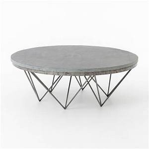 Modern round solid wood coffee table from denmark modern for Gray wood and metal coffee table