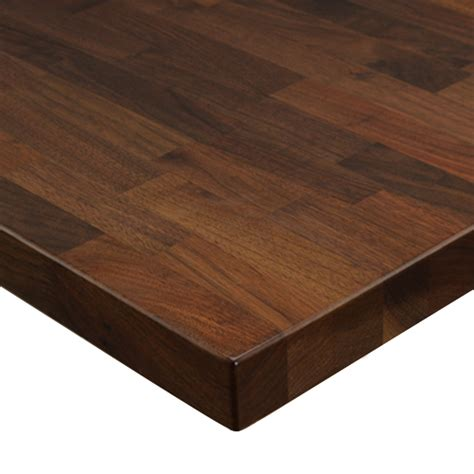 Black Walnut Solid Wood Butcher Block Table Top Wtt300