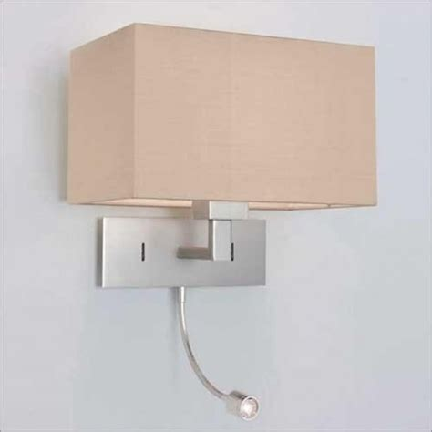 bed wall light with integral led book light hotel