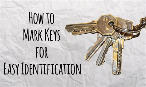 How To Mark Keys For Easy Identification  Master Of Diy  Creative Ideas For Home Youtube