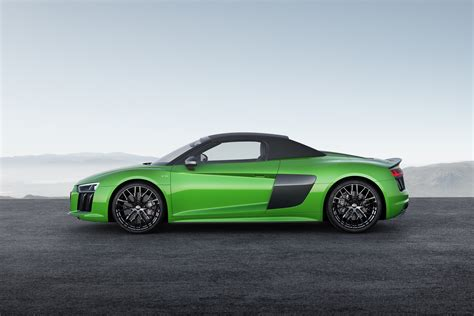 audi r8 2018 audi r8 spyder v10 plus unleashed with 610 ps