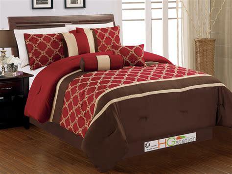 7p embroidery casablanca trellis moroccan comforter set