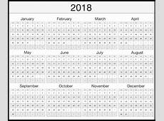 2018 Calendar UK with Bank Holidays Printable