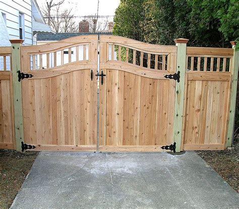 wooden fence gates designs custom arched good neighbor wood fence  gate  elyria fence