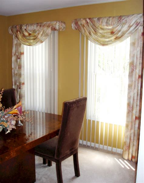 Tie Up Shade Curtain by Soften Up Those Vertical Blinds 187 Susan S Designs