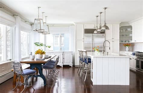 shiplap kitchen island transitional kitchen
