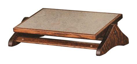under desk foot stool amish adjustable footrest