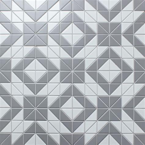 2 matte triangle gray white triangle tile porcelain
