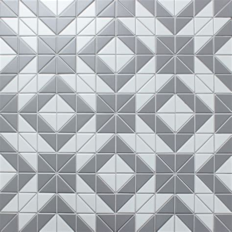 matte triangle gray white triangle tile porcelain