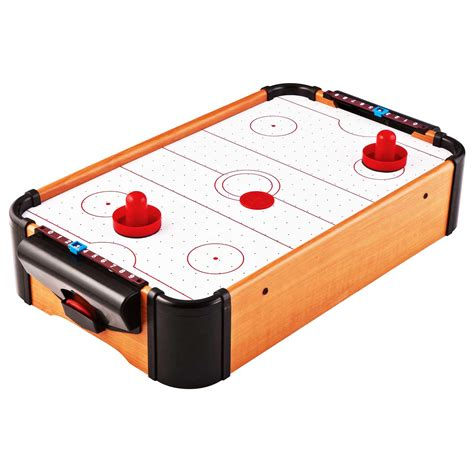 air hockey table game aww cool toys 22 quot air hockey wooden tabletop classic